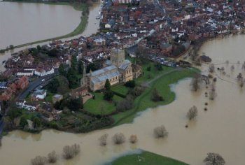Tewkesbury, January 2015 (courtesy of the Gloucestershire Echo)