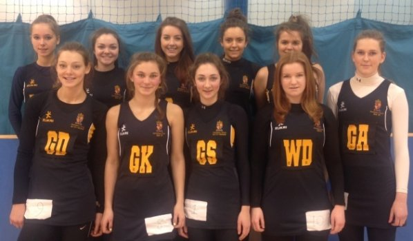 1st VII netball team at the West Midlands Regional Finals, Saturday 25th January 2014