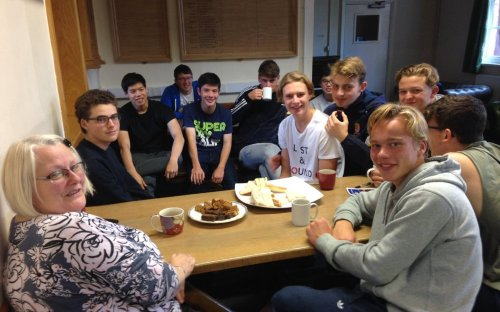 Afternoon tea for the Upper Sixth, courtesy of Mrs King