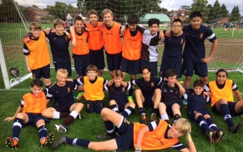Oldham's Third Form Football Team, September 2017