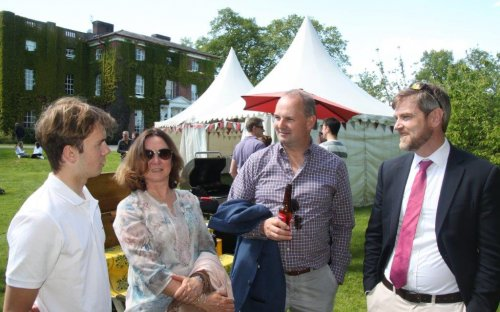 Adam Duncan, Housemaster Designate of Severn Hill, meeting families at Severn Hill