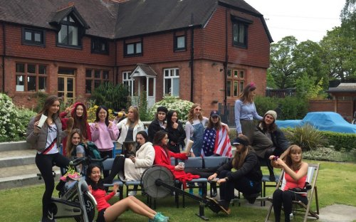 Upper Sixth Leavers' Muck-Up Photo