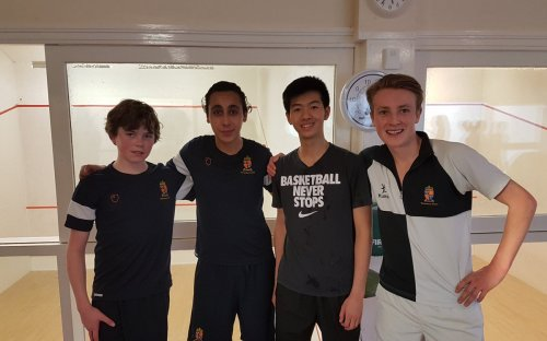 Winners of House Squash