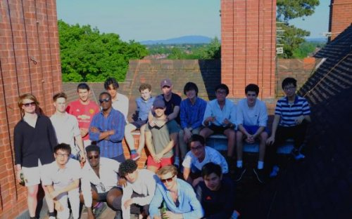 The Upper Sixth Leavers gathered on the roof of School House in the blazing sunshine to inscribe their names in the leadwork – a tradition that has been going on since the 1950s