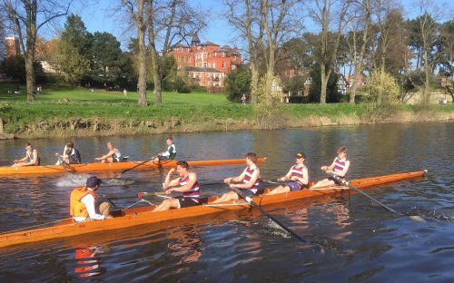 School House at the top of the table in the Senior IVs rowing competition