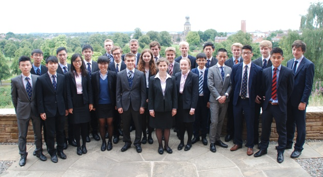 The Headmaster with some of the Lower Sixth and GCSE prizewinners, 2013