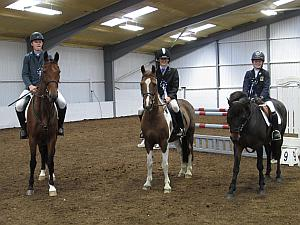 Sam, Tom & Hugh, grinning widely after qualifiying for the National Finals of the NSEA Championships