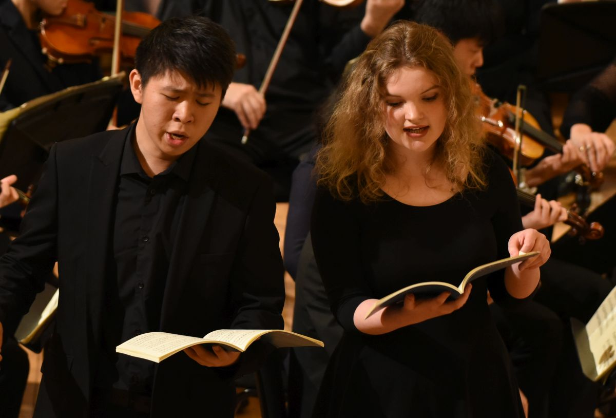 Steph performing with Ohin Cheng at last year's St Cecilia Concert
