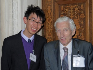 Arthur Kung with Lord Rees