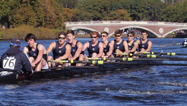 RSSBC VIII rowing at the Head of the Charles Regatta, USA, October 2013