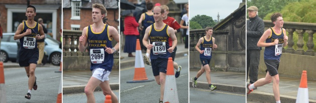 Shrewsbury Marathon runners June 2013