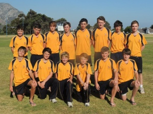 U15 squad in South Africa