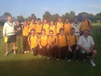 Shrewsbury 1st XI, winners of the HMC U18 National T20 Competition 2013