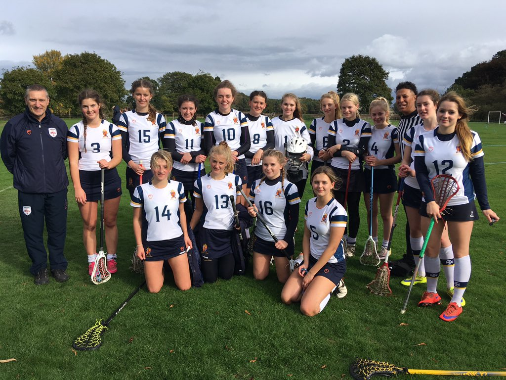 Lucy (front row, 2nd on the right) with the Shrewsbury 1st XII at the North Schools Tournament