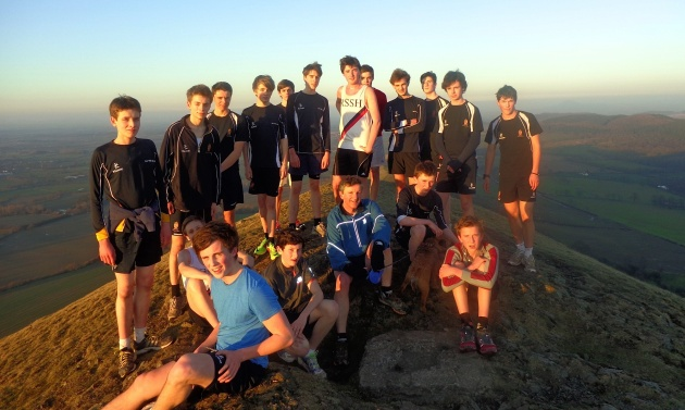 James in the centre (RSSH vest) at the top of The Lawley